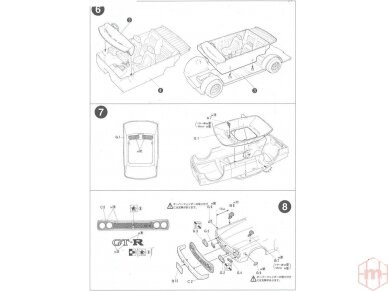 Fujimi - Nissan Skyline 2000 GT-R KPGC10 Full-Works Versija, Mastelis:1/24, 03809 8