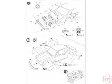 Fujimi - Nissan Skyline 2000 GT-R KPGC10 Full-Works Versija, Mastelis:1/24, 03809 9