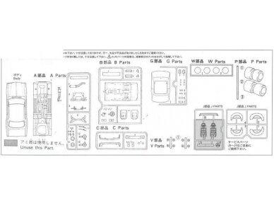 Fujimi - Nissan Skyline 2000 GT-R KPGC10 Full-Works Versija, Mastelis:1/24, 03809 10