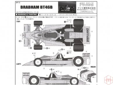 Fujimi - Brabham BT46B Sweden GP #1/#2, Mastelis: 1/20, 09203 6