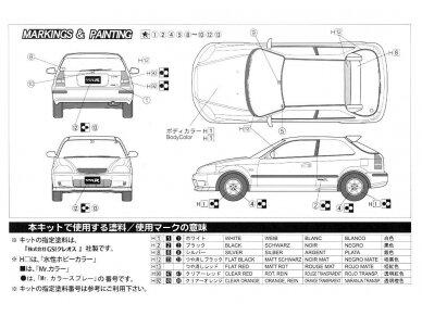 Fujimi - TOHGE-11 Honda Civic Type R 6gen. Mastelis: 1/24, 04601 6