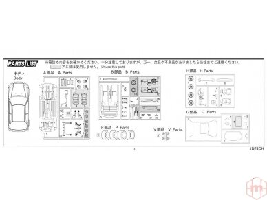 Fujimi - TOHGE-11 Honda Civic Type R 6gen. Mastelis: 1/24, 04601 10