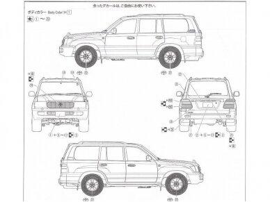 Fujimi - Toyota Land Cruiser 100 Van VX Limited (HDJ101K), 1/24, 03804 3