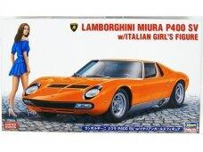 Hasegawa - Lamborghini Miura P400 SV w/Italian Girl's Figure, Mastelis: 1/24, 20423