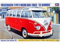 Hasegawa - Volkswagen Type2 Micro Bus (1963) '23-window', Mastelis: 1/24, 21210