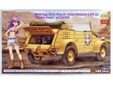 "Hasegawa - Wild Egg Girls No.02 Pkw.K1 Kubelwagen Type 82 ""Claire Frost"" w/Figure, Mastelis: 1/24, 52160"