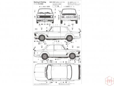 Hasegawa - BMW 2002 Turbo, Mastelis: 1/24, 21124, HC24 14