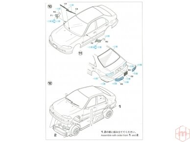 Hasegawa - Honda Civic ferio VTi, Mastelis: 1/24, 20256 11