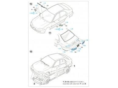 Hasegawa - Honda Civic ferio VTi, Scale: 1/24, 20256 11