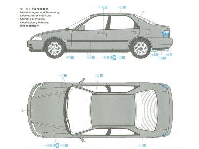 Hasegawa - Honda Civic ferio VTi, Mastelis: 1/24, 20256 5