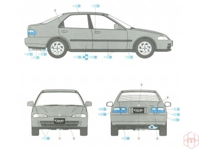 Hasegawa - Honda Civic ferio VTi, Mastelis: 1/24, 20256 6