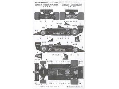 Hasegawa - Lotus F1 1978 German GP With full decals, Scale: 1/20, 23203 9
