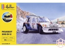 Heller - Peugeot 205 EV2 dovanų komplektas, 1/24, 56716