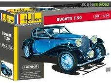 Heller - Bugatti T.50, Mastelis: 1/24, 80706