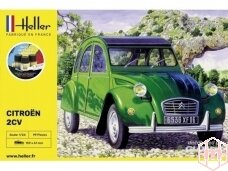 Heller - Citroėn 2 CV , Dovanų komplektas, 1/24, 56765