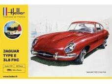 Heller - Jaguar Type E 3L8 FHC dovanų komplektas, 1/24, 56709