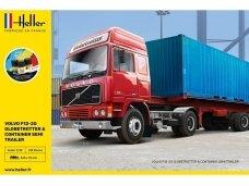 Heller - Volvo F12-20 Globe Trotter & Container Semi Trailer dovanų komplektas, 1/32, 57702