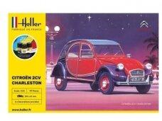 Heller - Citroėn 2 CV Charleston, Dovanų komplektas, 1/24, 56766