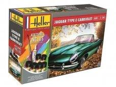 Heller - Jaguar Type E 328 OTS dovanų komplektas, Mastelis: 1/24, 56719