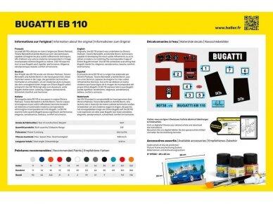 Heller - Bugatti EB 110 dovanų komplektas, 1/24, 56738 2