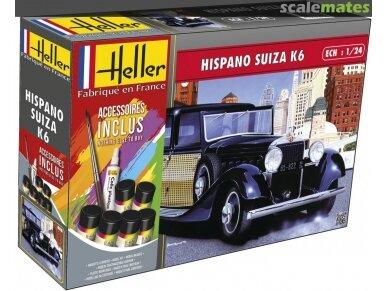 Heller - Hispano Suiza K6 dovanų komplektas, Mastelis: 1/24, 56704