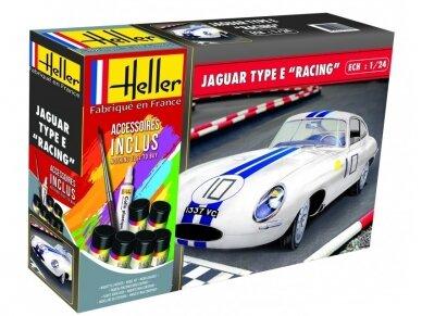 Heller - Jaguar Type E leMans dovanų komplektas, Mastelis: 1/24, 56783
