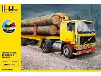 Heller - Volvo F12-20 & Timber Semi Trailer Starter Set, 1/32, 57704