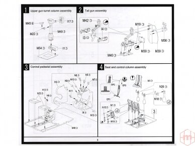 HK Models - B-25J Mitchell The Strafer, Mastelis: 1/32, 01E02 13
