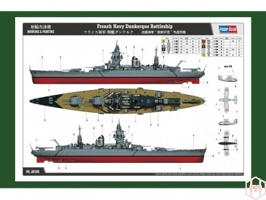 Hobby Boss - French Navy Battleship Dunkerque, Mastelis: 1/350, 86506 2