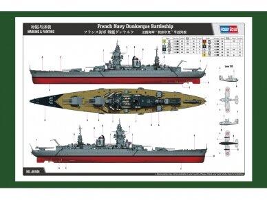 Hobby Boss - French Navy Battleship Dunkerque, Mastelis: 1/350, 86506 2