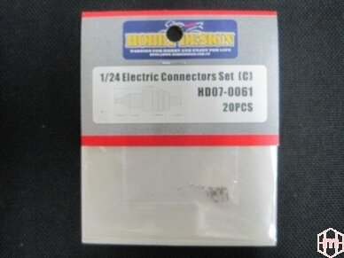 Hobby Design - 1:24 Electrical Connectors SMALL (C) 20vnt. HD07-0061