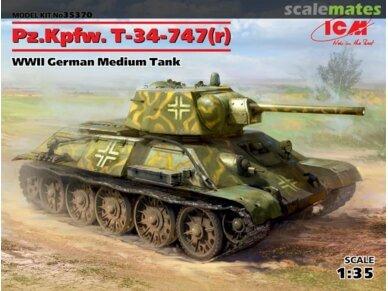 ICM - Pz.Kpfw.T-34-747(r)WWII German Medium Tank, Mastelis: 1/35, 35370