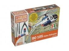 Italeri - BO-105 Police Helicopter dovanų komplektas, Mastelis: 1/32, 12003