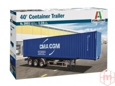 Italeri - 40' Container Trailer, 1/24, 3951