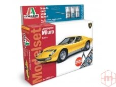 Italeri - Lamborghini Miura dovanų komplektas, Mastelis: 1/24, 72002