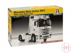 Italeri - Mercedes-Benz Actros MP3 White Liner/Black Liner, Mastelis: 1/24, 3884