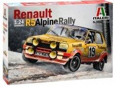 Italeri - Renault R5 ALPINE RALLY, Mastelis: 1/24, 3652