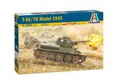 Italeri - T-34/76 Model 1943, Mastelis: 1/72, 7078