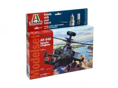 Italeri - AH-64D Longbow Apache dovanų komplektas, Mastelis: 1/72, 71080