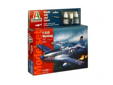 Italeri - F-51D Mustang dovanų komplektas, Mastelis: 1/72, 71086