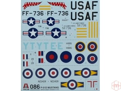 Italeri - F-51D Mustang dovanų komplektas, Mastelis: 1/72, 71086 2