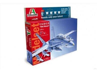 "Italeri - F/A18 C/D ""Wild Weasel"" dovanų komplektas, Mastelis: 1/72, 71016"