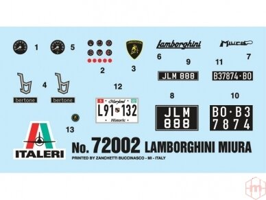 Italeri - Lamborghini Miura dovanų komplektas, Mastelis: 1/24, 72002 7