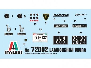 Italeri - Lamborghini Miura model set, Scale: 1/24, 72002 7