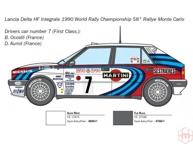 Italeri - Lancia Delta HF integrale, Mastelis: 1/24, 3658 4