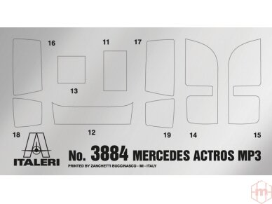 Italeri - Mercedes-Benz Actros MP3 White Liner/Black Liner, Mastelis: 1/24, 3884 3