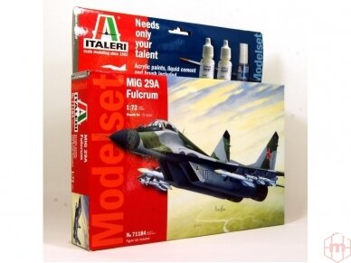 "Italeri - MiG 29A ""Fulcrum"" dovanų komplektas, Mastelis: 1/72, 71184"