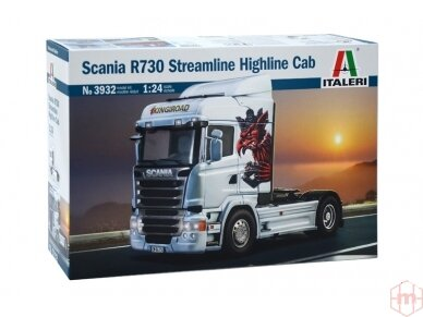 Italeri - Scania R730 Streamline Highline Cab, Scale: 1/24, 3932
