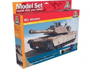 Italeri - M1 Abrams dovanų komplektas, Mastelis: 1/72, 77001