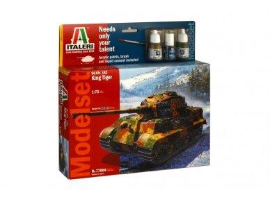Italeri - Sd.Kfz. 182 King Tiger dovanų komplektas, Mastelis: 1/72, 77004